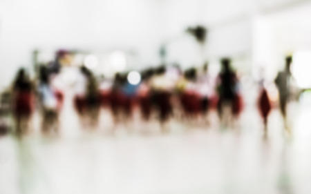 thai dancing: Abstract of blurred children in thai dancing class