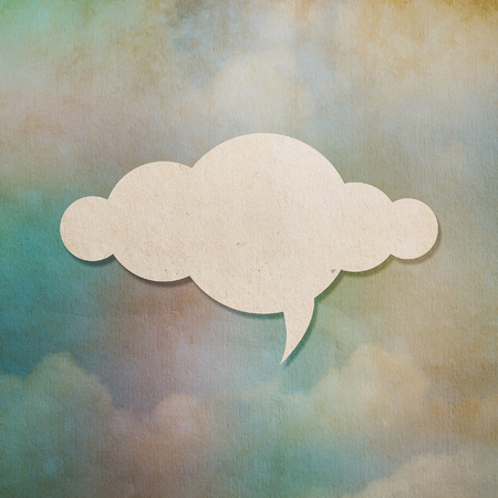 cloud background: Cloud paper on colorful old paper background for your text