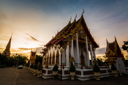 chalong: Chalong temple in the morning, Phuket,Thailand
