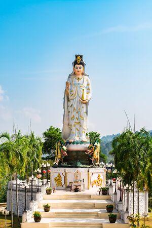goddess of mercy: Goddess of Mercy known as Quan Yin or Guan Yin or Guan Yim in Wat Bang Rieng (Bang Rieng Temple), Phang Nga, Thailand