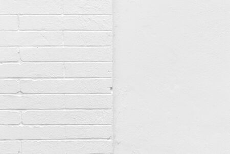 Blank concrete white brick wall with texture background.
