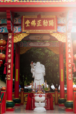 Chinese god statue in Jiu Tean Geng Shrine where is respect greatly by phuket people, Phuket, Thailand.