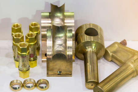 sample machining part or goods from manufacture by cnc machining center or lathe material made from brass