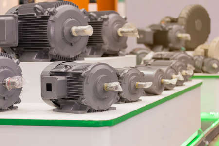 many type of new high efficiency electric motor for industrial on table