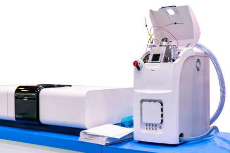 mass spectrometer device of lab for analysis property element by detect molecule for industrial food pharmaceutical nutraceuticals agriculture chemical & petrochemicals isolated with clipping path