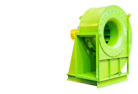 large or heavy industrial centrifugal blower isolated on white background with clipping path Archivio Fotografico
