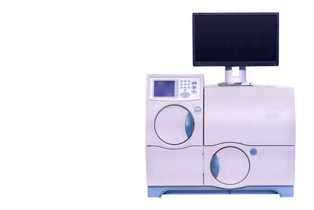 Advanced automation microbiology lab equipment for diagnostics identifies bacterial unusual & resistance in-vitro for industrial medical pharmaceutical nutraceuticals etc isolated with clipping path Reklamní fotografie