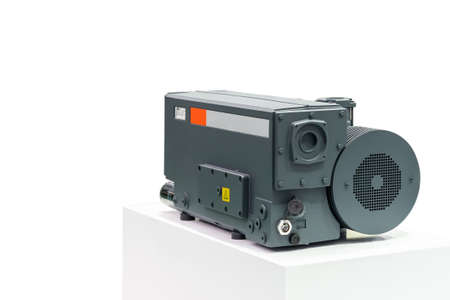 High technology & modern of new Generation high pressure rotary vane vacuum pump for packaging food chemical pharmaceutical and other industrial process isolated on white background with clipping path