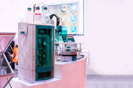 advanced ion chromatography device of lab for separation of a mixture by passing it in solution or suspension or vapor applications in the industrial medical pharmaceuticals chemical and cosmetics