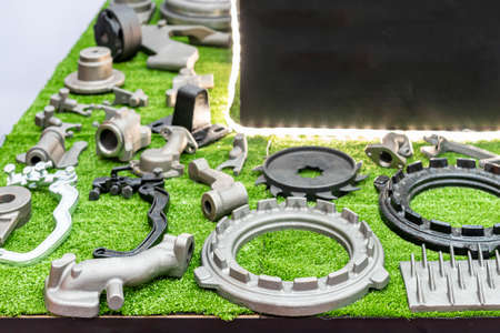 various of iron casting parts such as housing manifold drum gear shift sprocket gear blades dish etc. made from manufacturing process green sand or shell mold and clean skin by shot blast