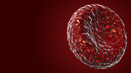 Red blood cells Use as a medical illustration is a 3d image and the word is written. Stock Photo