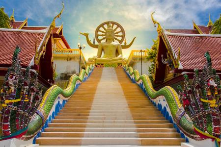 Big Buddha Temple at Koh Samui, Thailand 免版税图像