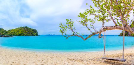Blue water at Koh Phak Bia, Krabi Province, Thailand Banco de Imagens