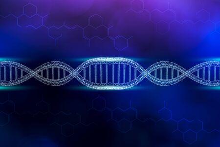 DNA medical background blue beautiful lines Stok Fotoğraf