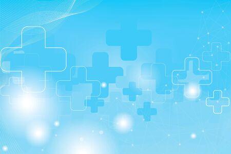 Geometry, positive and hexagon symbols Medical concept background Reklamní fotografie