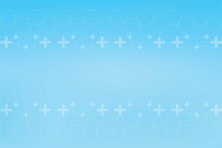 Geometry, positive and hexagon symbols Medical concept background Фото со стока