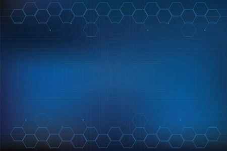 Geometric symbol background In blue tones (medical) Фото со стока