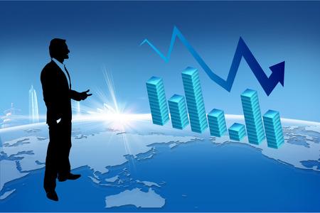 diagrama de arbol: Concepto de Crecimiento Empresarial y Financiero. Foto de archivo