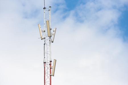 telephone poles: Telephone pole with blue sky background.