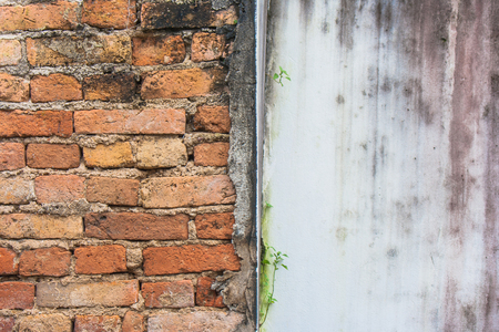 Abstract beeld van de rode achtergrond van de bakstenen muurtextuur grunge. Stockfoto