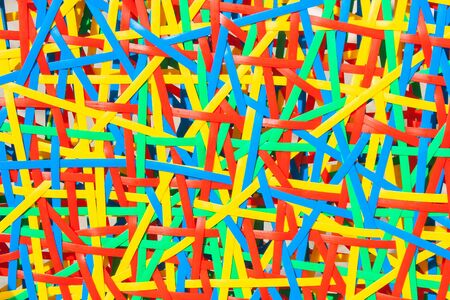 Close up abstract image or texture of colorful plastic weave. Stok Fotoğraf - 83126279