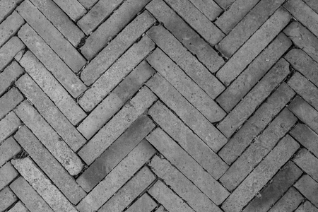 Top view texture of gray block in concrete ground of sidewalk. (Black and White filter effect) Stok Fotoğraf - 86956232