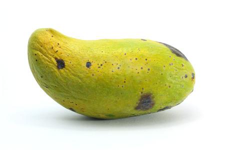 overripe: Overripe mango on white background