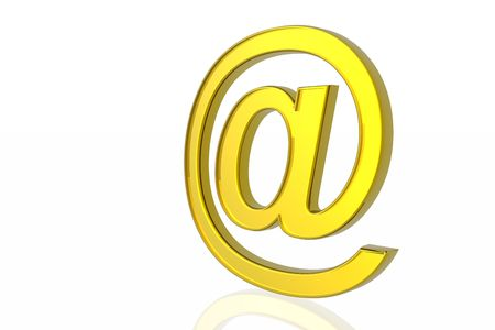 Golden e-mail symbol Stock Photo - 2215576