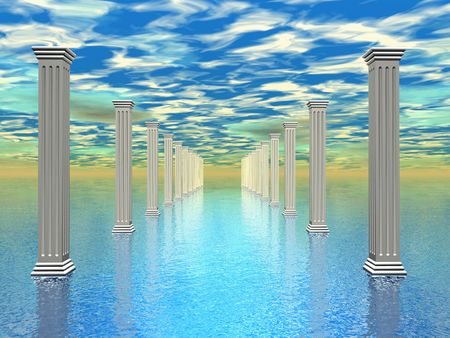 mystical woman: mystic Atlantis