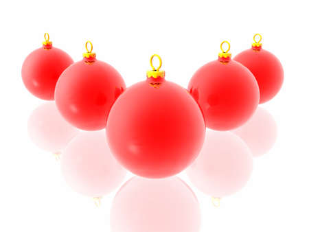 Red christmas decoration on white background  Stock Photo - 2215798