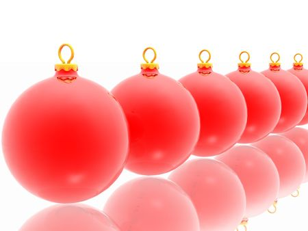 Red christmas decoration on white background Stock Photo - 2215851