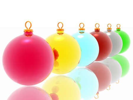 Different christmas decoration on white background Stock Photo - 2215829