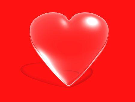 hots: crystal heart  Stock Photo