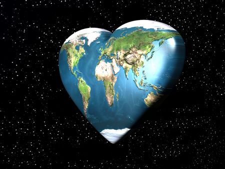 love in planet Earth   Stock Photo