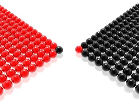 red & black leader of management Stock Photo - 2215975