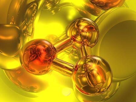 Render of molecule Stock Photo - 2215995