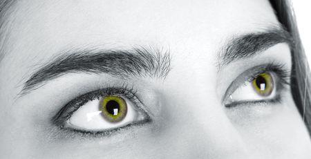 hypnotise: Female sight of love Stock Photo