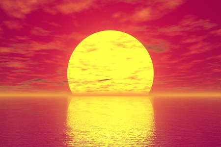 afterglow: Golden Sunset Stock Photo