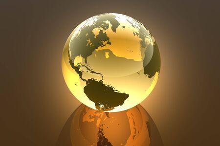 Earth, abstract 3d illustration Stock Illustration - 2516456