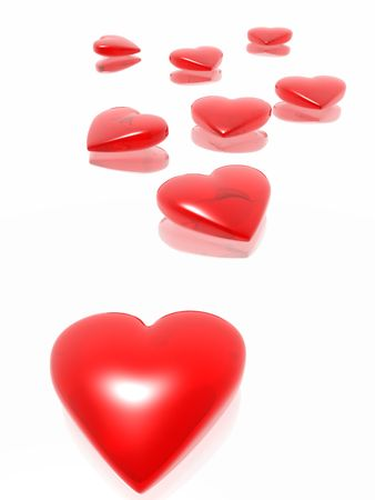 hots: Red hearts (see more in my portfolio) Stock Photo