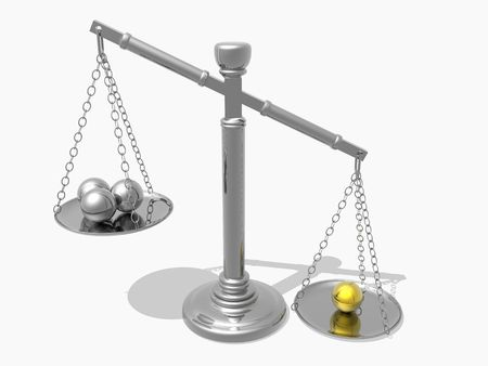 juror: Justices scales (see more in my portfolio) Stock Photo