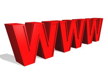 3d World Wide Web internet symbol (see more in my portfolio) Stock Photo - 2516330