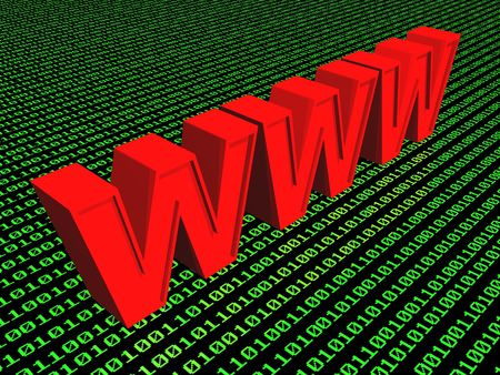 3d World Wide Web internet symbol (see more in my portfolio) Stock Photo - 2516575
