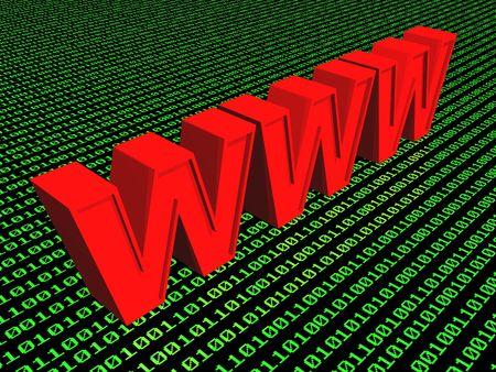 seizure: 3d World Wide Web internet symbol (see more in my portfolio) Stock Photo