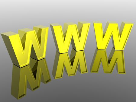 3d World Wide Web internet symbol (see more in my portfolio) Stock Photo - 2516362