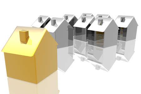 individual: unique golden house