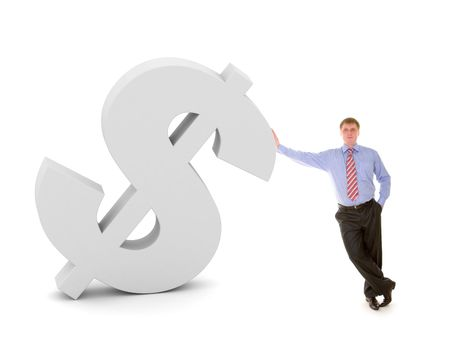 business man and dollar sign Stock Photo - 2606175