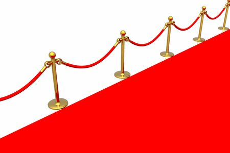 Red carpet isolated in white background Stock Photo - 2611461