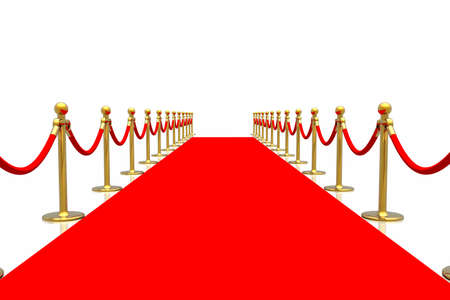 Red carpet isolated in white background Stock Photo - 2611465