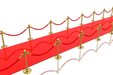 Red carpet isolated in white background Stock Photo - 2611466